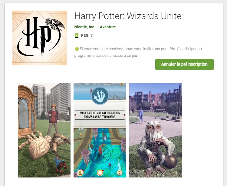 beta google play wizards unite